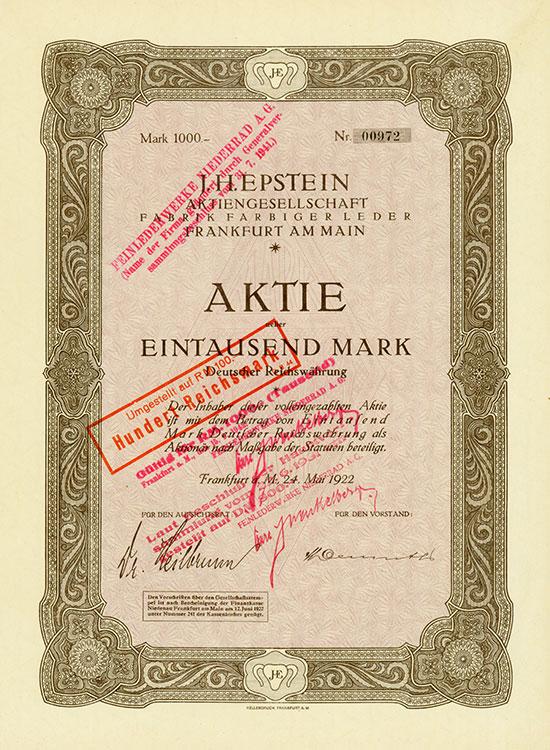 J. H. Epstein AG Fabrik Farbiger Leder