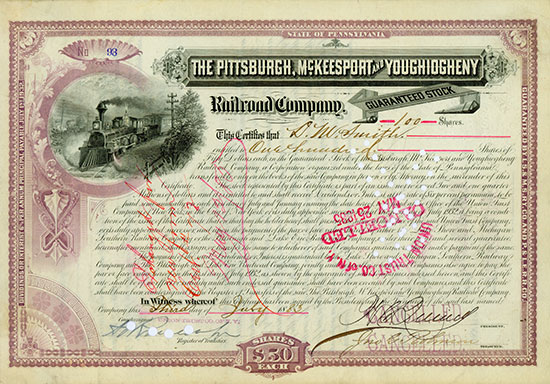 Pittsburgh, McKeesport & Youghiogheny Railroad Company