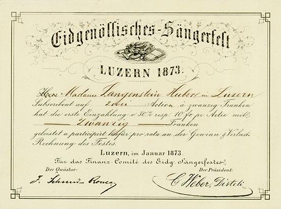 Eidgenössisches-Sängerfest Luzern 1873