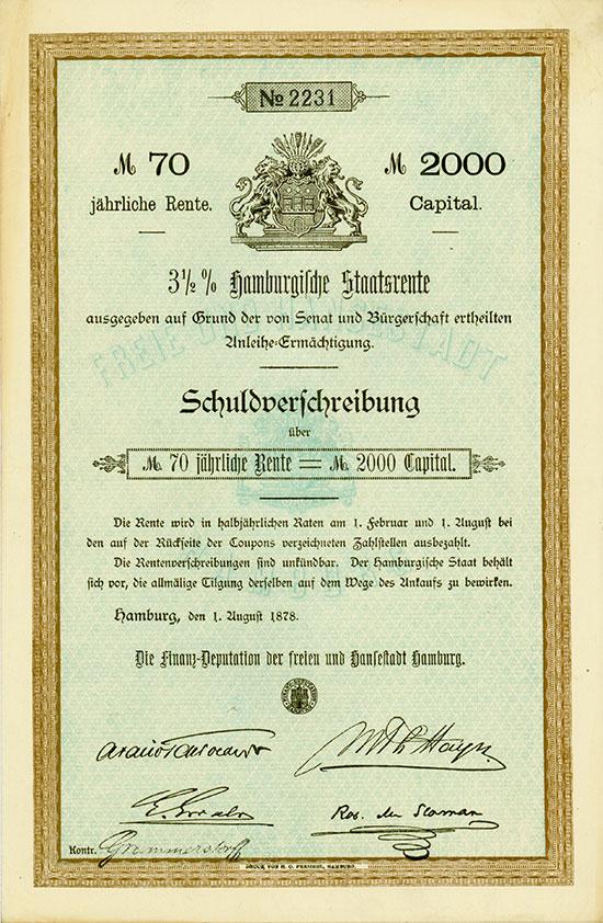 Sammlung Hamburger Stadtanleihen [74 Stück]