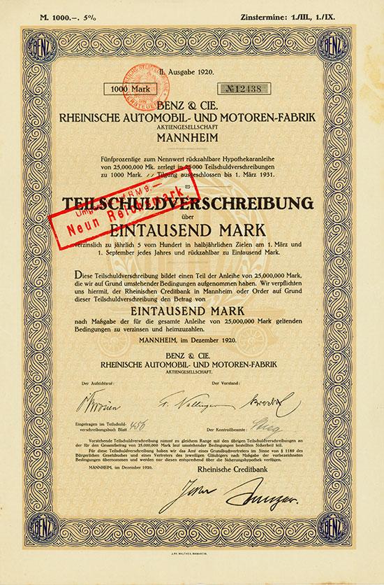 Benz & Cie., Rheinische Automobil- und Motoren-Fabrik AG