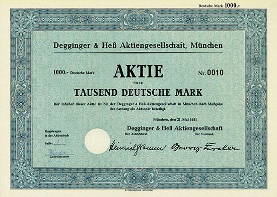Degginger & Heß AG