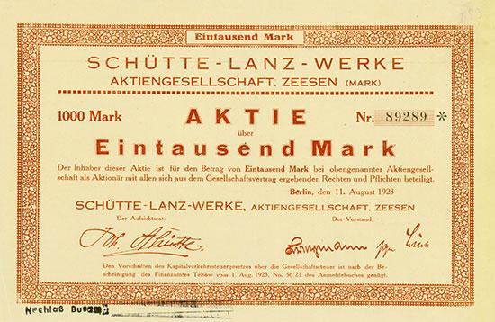 Schütte-Lanz-Werke AG