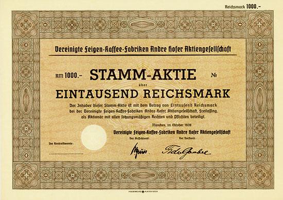 Vereinigte Feigen-Kaffee-Fabriken Andre Hofer A.G.