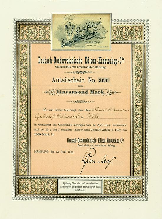 Deutsch-Oesterreichische Edison-Kinetoskop-Cie. GmbH