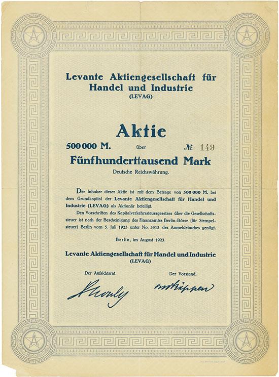 Levante Aktiengesellschaft für Handel und Industrie (LEVAG)