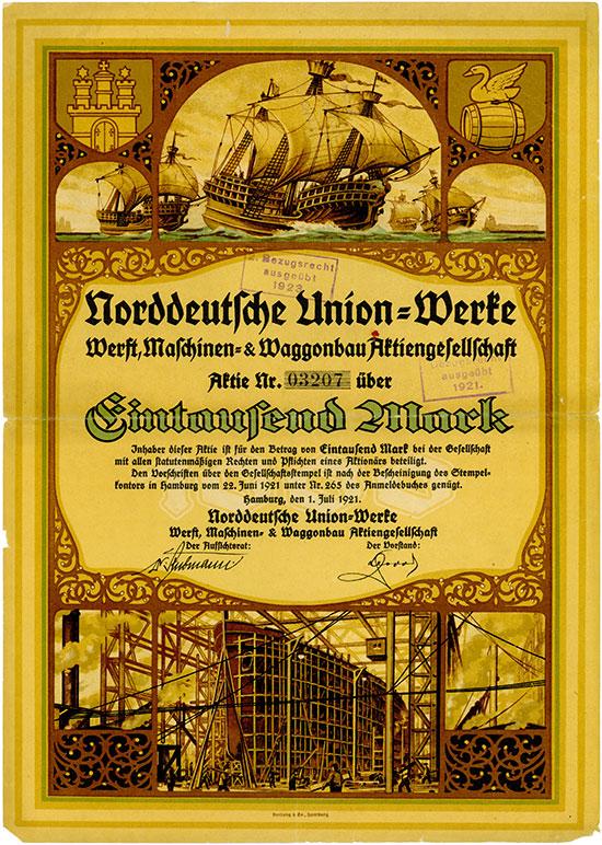 Norddeutsche Union-Werke Werft, Maschinen- & Waggonbau AG