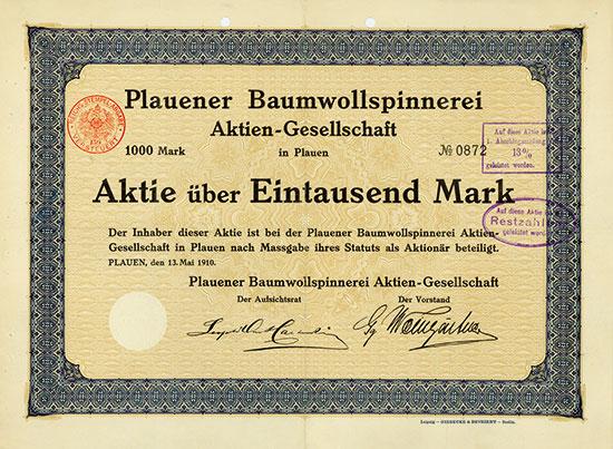 Plauener Baumwollspinnerei AG