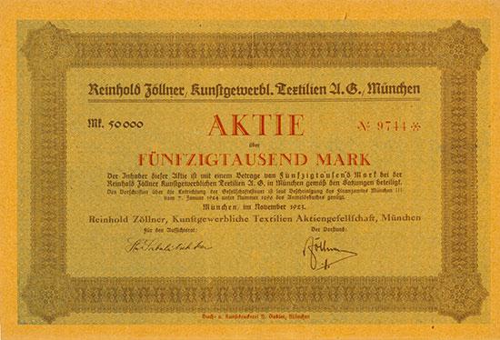 Reinhold Zöllner Kunstgewerbliche Textilien AG