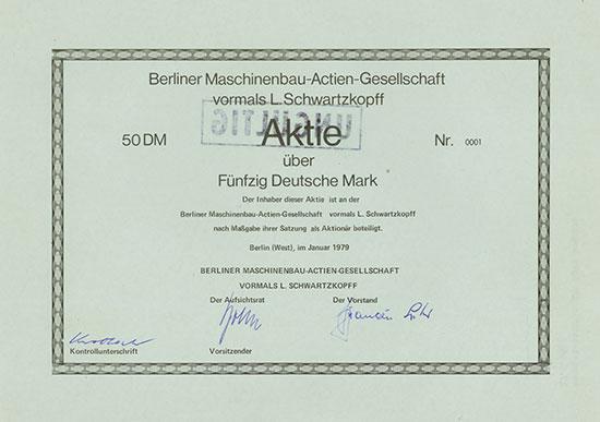 Berliner Maschinenbau-Actien-Gesellschaft vormals L. Schwartzkopff
