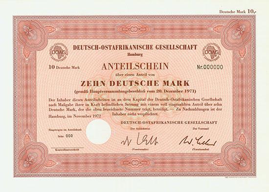 Deutsch-Ostafrikanische Gesellschaft