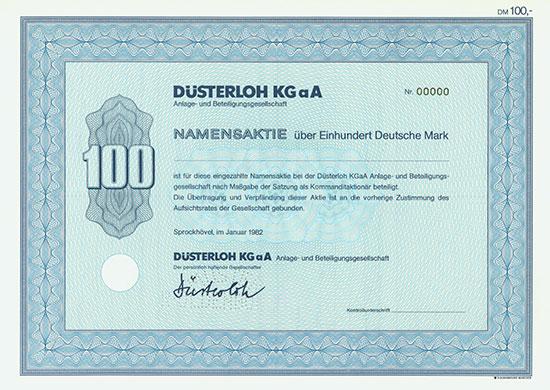 Düsterloh KGaA Anlage- und Beteiligungsgesellschaft