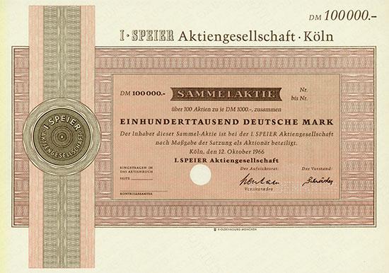 I. Speier AG