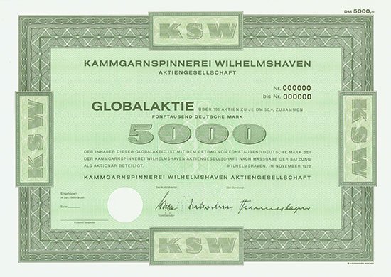 Kammgarnspinnerei Wilhelmshaven AG