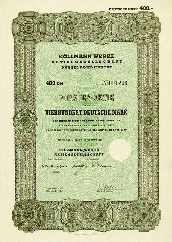 Köllmann Werke AG