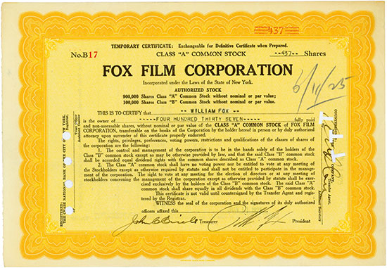 Fox Film Corporation