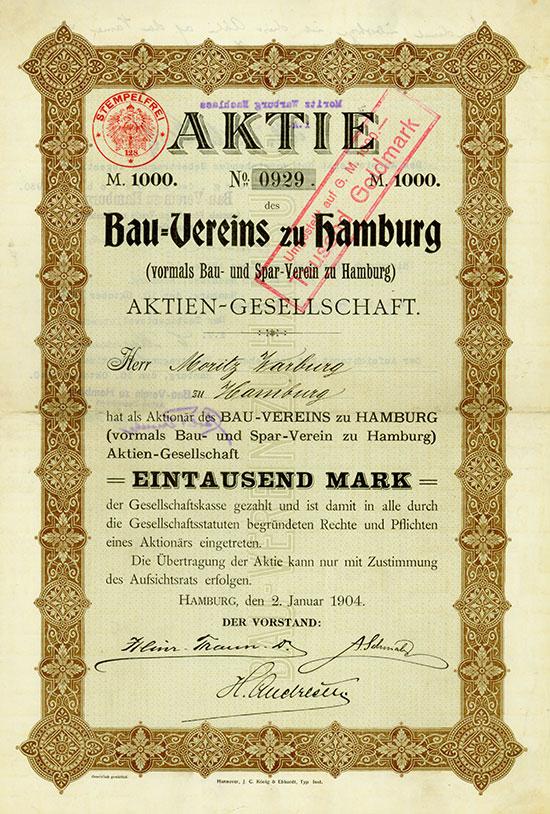 Bau-Verein zu Hamburg (vormals Bau- und Spar-Verein zu Hamburg) AG