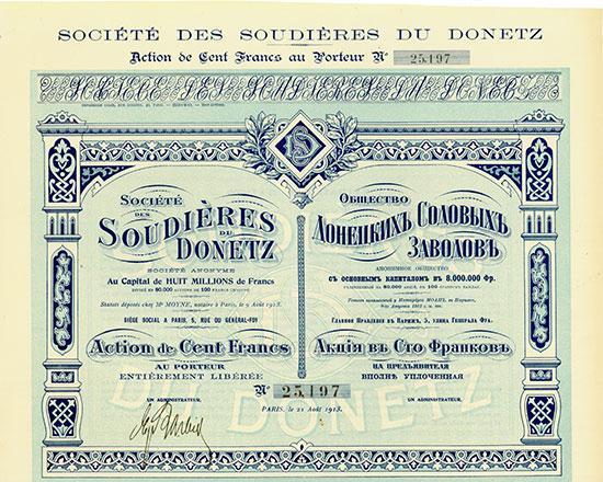Société des Soudières du Donetz Société Anonyme