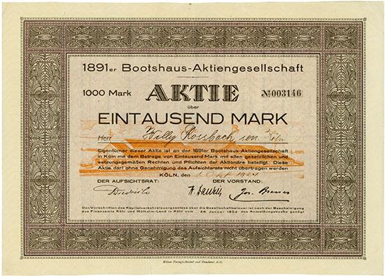 1891er Bootshaus-AG