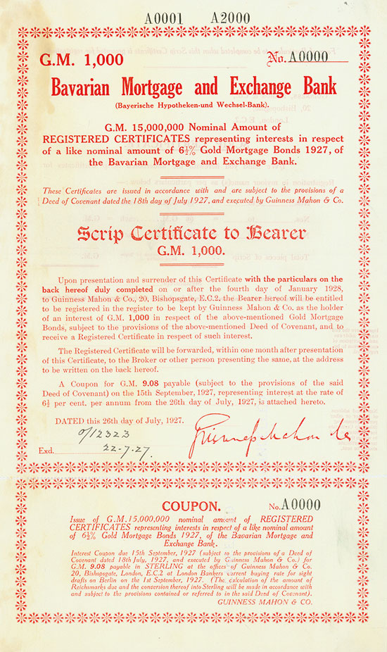 Bavarian Mortgage and Exchange Bank (Bayerische Hypotheken- und Wechsel-Bank)