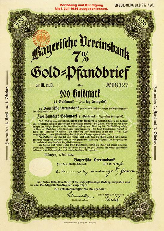 Bayerische Vereinsbank [2 Stück]