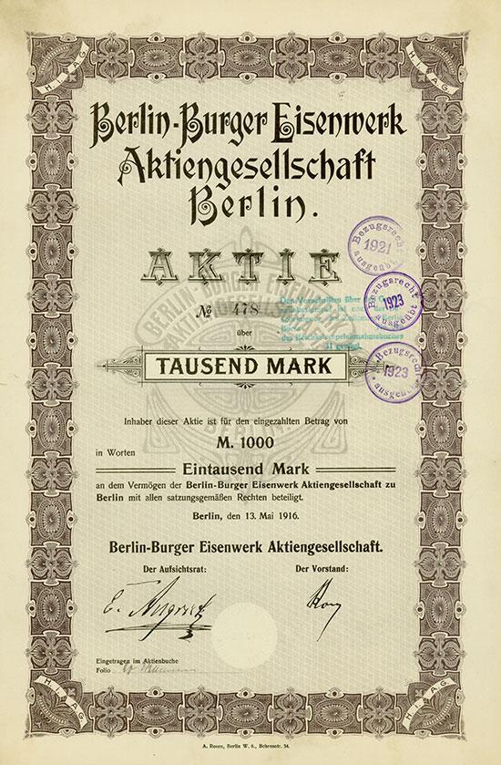 Berlin-Burger Eisenwerk AG