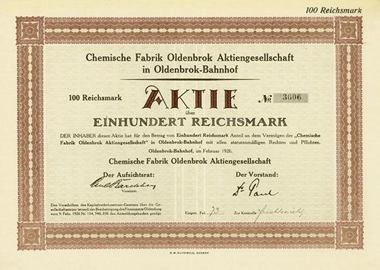 Chemische Fabrik Oldenbrok AG