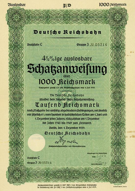 Deutsche Reichsbahn  [3 Stück]