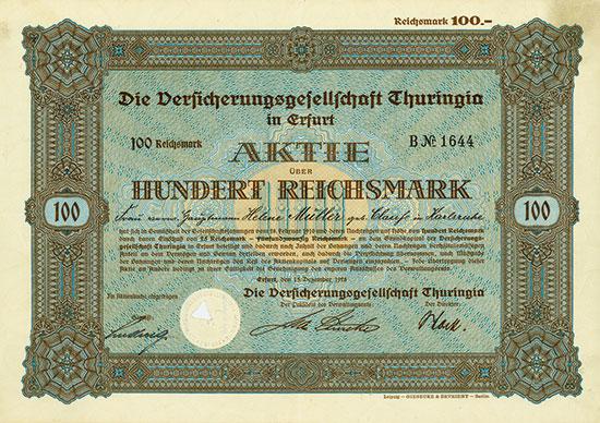 Die Versicherungsgesellschaft Thuringia