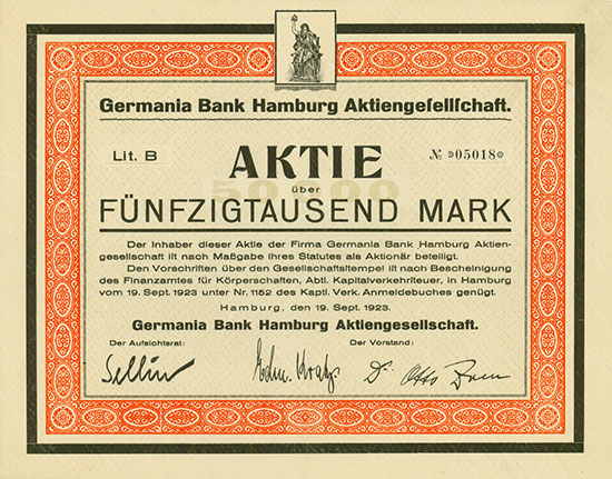 Germania Bank Hamburg AG