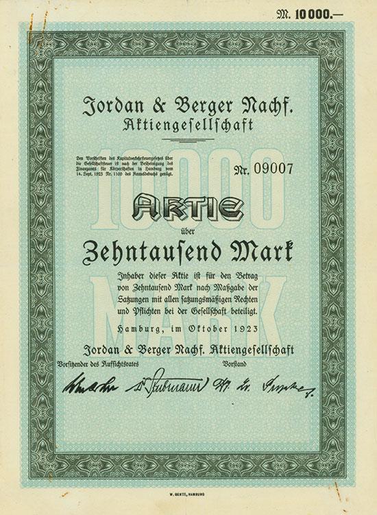 Jordan & Berger Nachf. AG
