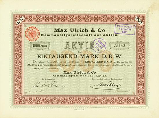 Max Ulrich & Co KGaA