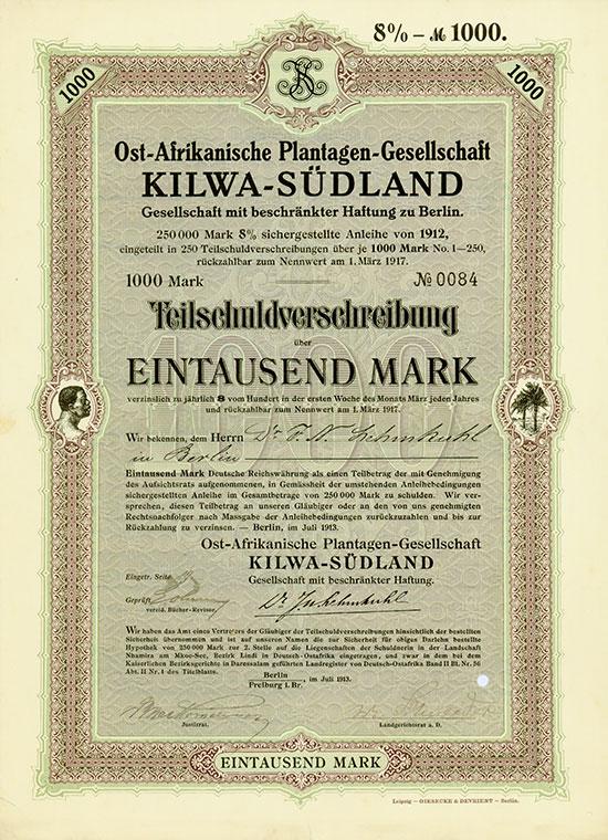 Ost-Afrikanische Plantagen-Gesellschaft Kilwa-Südland GmbH
