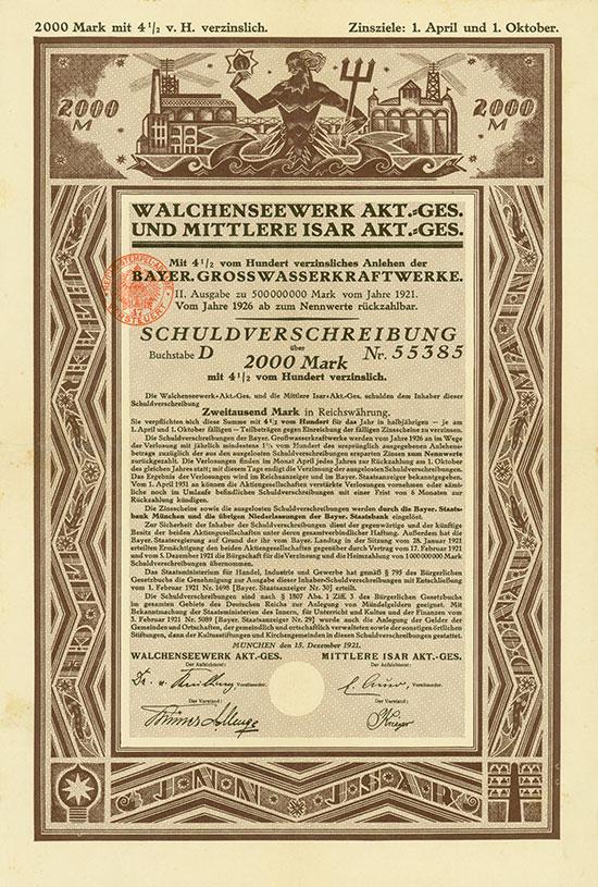 Walchenseewerk AG und Mittlere Isar AG - Bayer. Grosswasserkraftwerke