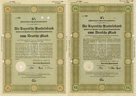 Bayerische Handelsbank [4 Stück]