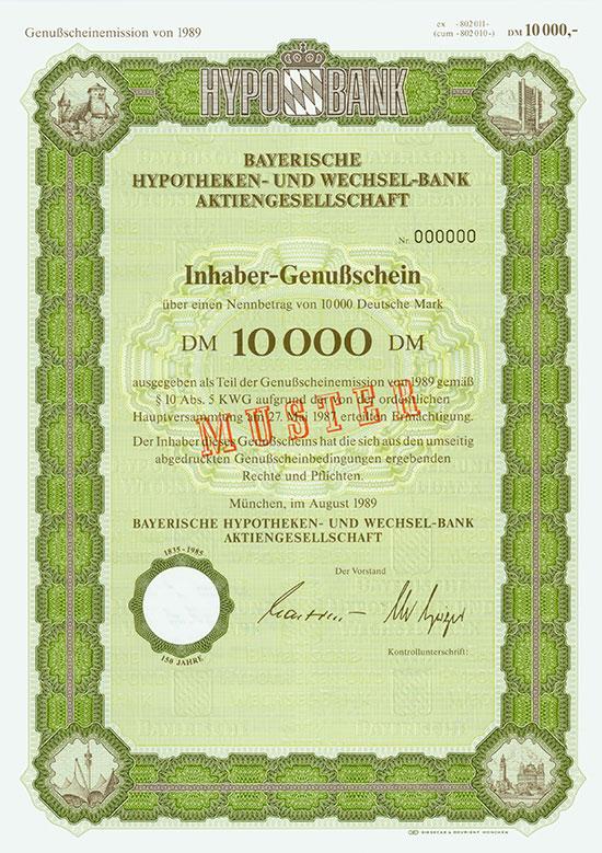 Bayerische Hypotheken- und Wechsel-Bank AG [5 Stück]