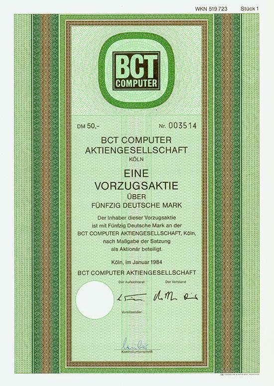 BCT Computer AG [2 Stück]