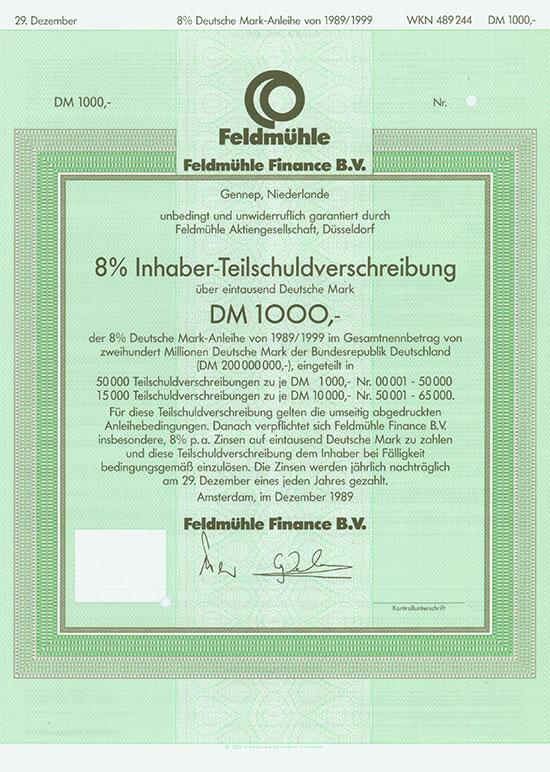 Feldmühle Finance B. V. [3 Stück]