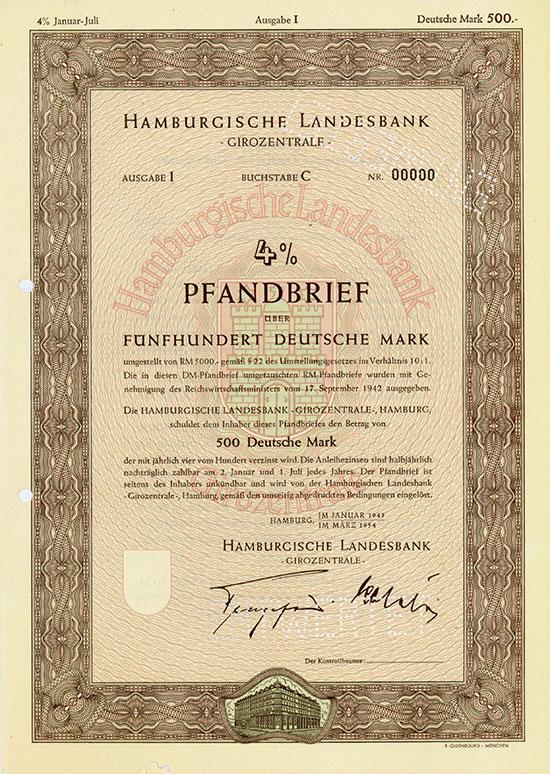 Hamburgische Landesbank - Girozentrale - [4 Stück]