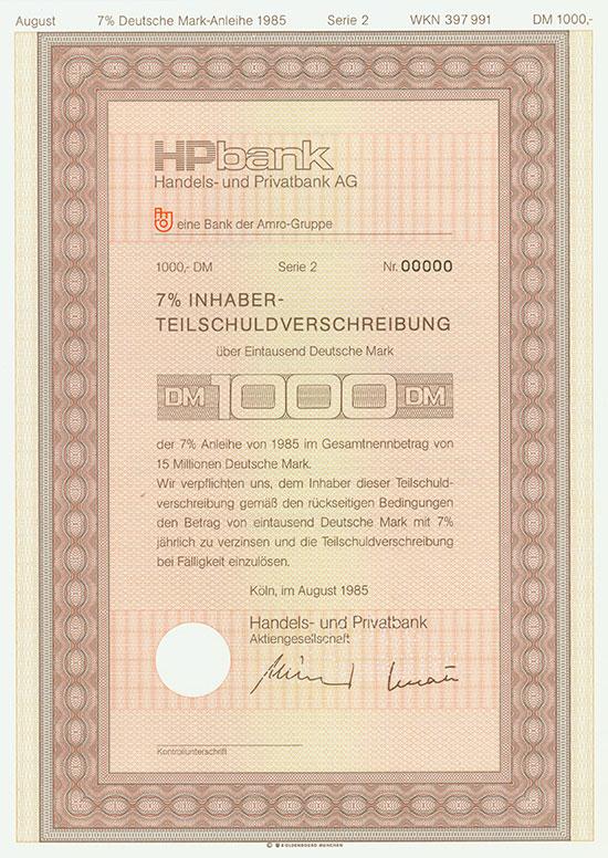 Handels- und Privatbank AG [2 Stück]