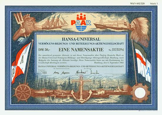 Hansa-Universal Vermögens-Bildungs- und Beteiligungs-AG
