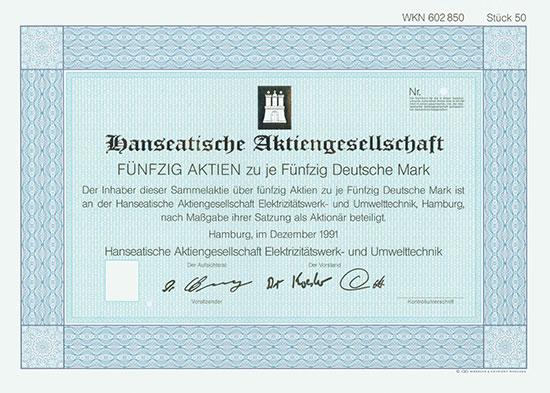 Hanseatische Aktiengesellschaft Elektrizitätswerk- und Unwelttechnik