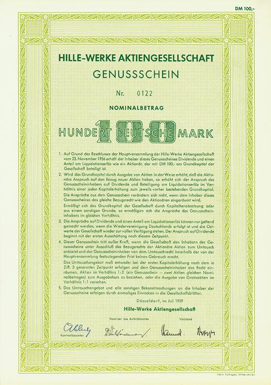 Hille-Werke AG