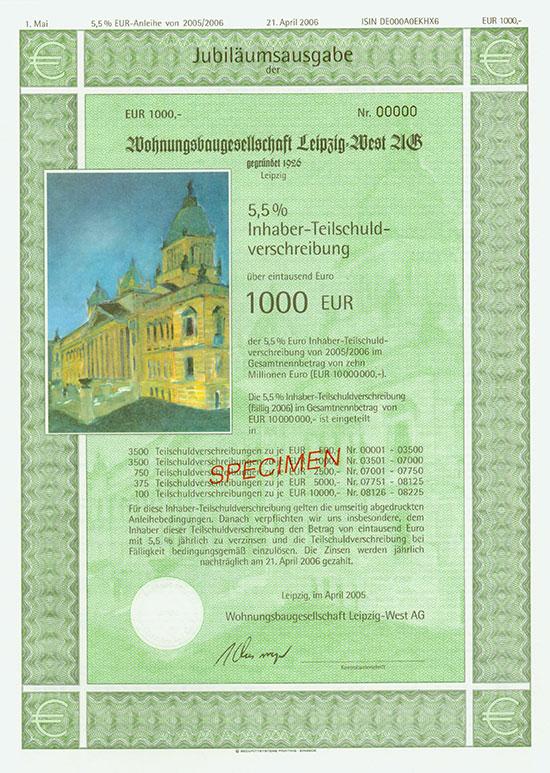 Wohnungsbaugesellschaft Leipzig-West AG [4 Stück]