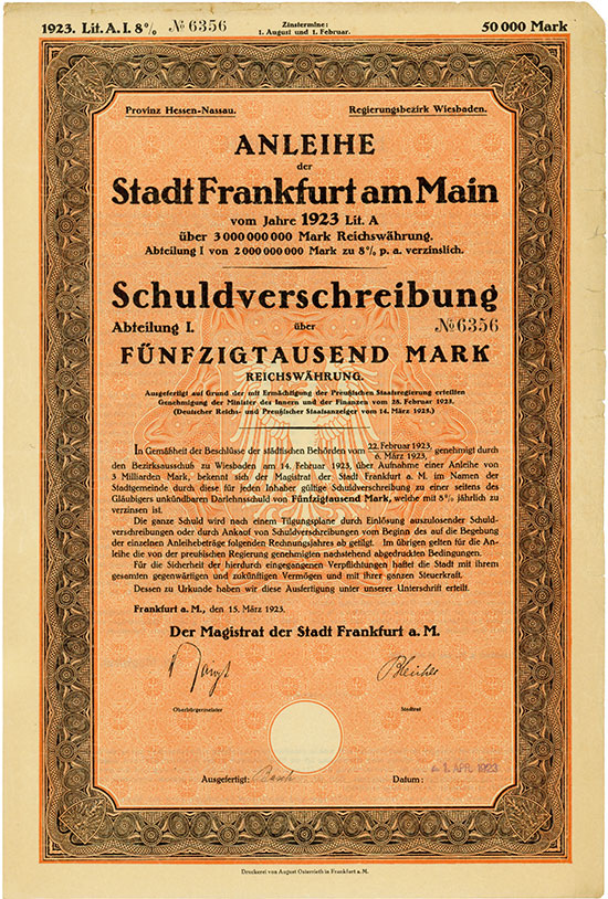 Deutsche Stadtanleihen Altbestand [13  Stück]