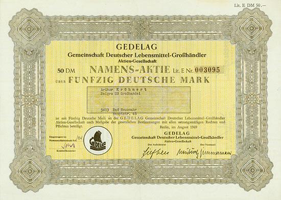 GEDELAG Gemeinschaft Deutscher Lebensmittel-Großhändler AG [5 Stück]