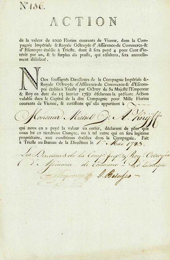 Compagnie Impériale & Royale Octroyée d'Assurance - de Commerce & d'Escompte