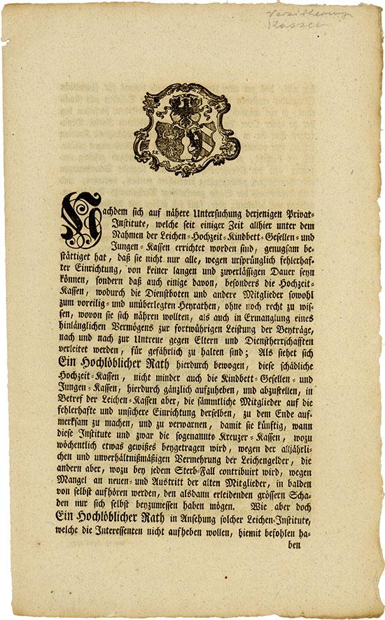 Reichsstadt Nürnbergische Begräbnis-Societät