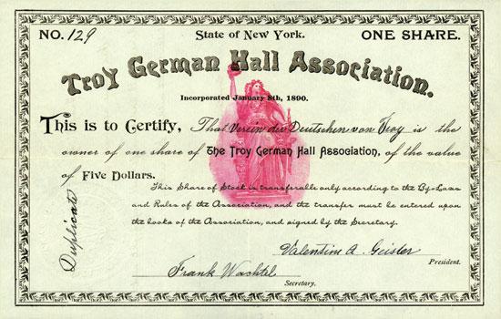 Troy German Hall Association