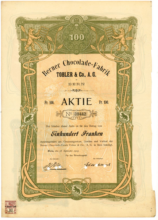 Berner Chocolade-Fabrik Tobler & Co. AG